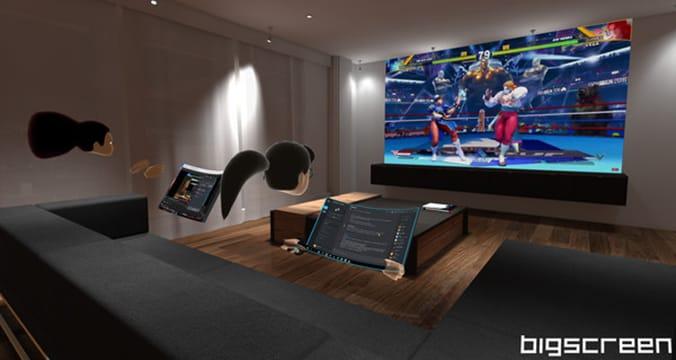 escritorio de realidad virtual bigscreen