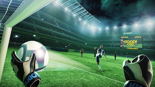 uno de los juegos de realidad virtual de fútbol