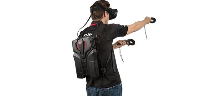 MSI VR One una de las mochilas vr